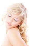 Overweldigende blonde blind royalty-vrije stock afbeeldingen