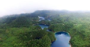 Overweldigende hommelmening van de lagunes van cincolagos NEEM 5 stock footage