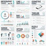 Overweldigende infographic die elementenvector voor uw wordt geplaatst  Royalty-vrije Stock Afbeelding