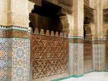 Overweldigende Marokkaanse Stijlbinnenhuisarchitectuur Stock Afbeelding