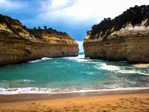 Overweldigende mening van de mooie Grote Oceaanweg, Victoria, Australië stock foto