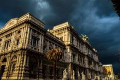 Overweldigende mening van mooie Colosseum, Rome, Italië royalty-vrije stock foto's