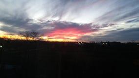 Overweldigende roze zonsondergang Royalty-vrije Stock Fotografie