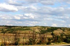 Overweldigende uitgestrektheden van het gebied van Volgograd stock foto's