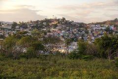 Overweldigende Zonsondergang over de Heuveltoppen stock afbeelding