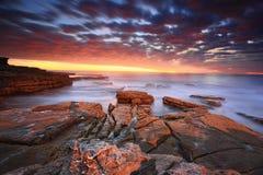 Overweldigende zonsopgang in Maroubra Royalty-vrije Stock Afbeelding