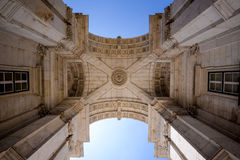 Overwelfde galerij in Lissabon Portugal Stock Foto