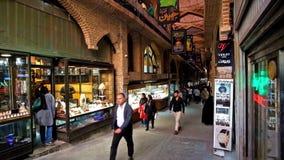 Overwelfde galerij van Grote Bazaar stock footage