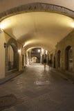 Overwelfde galerij van Straat weg via de Straat van deigeorgofili, Florence Stock Foto's