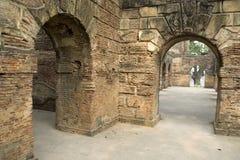 Overwelfde galerijen bij Residentie, Lucknow Stock Fotografie