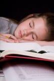 Overwelmed with Homework Stock Photography