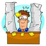 overwhelmed работник Стоковое Изображение RF