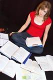 overwhelmed студент Стоковое фото RF
