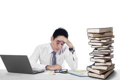 Overwhelmed businessman Stock Photography