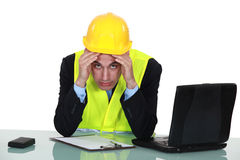 Overwhelmed businessman Stock Photos