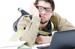 Overwhelmed businessman Stock Image