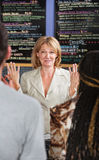 Overwhelmed Cafe Owner Royalty Free Stock Photography