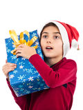 Overwhelmed child expression Royalty Free Stock Photos
