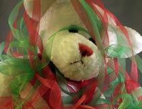 Overwhelmed christmas bear Stock Photo