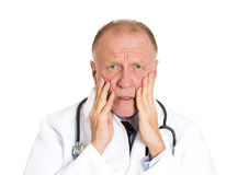 Overwhelmed doctor Stock Images