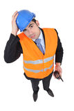An overwhelmed engineer Royalty Free Stock Photography