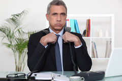 Overwhelmed executive Royalty Free Stock Photo