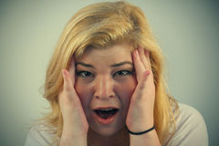 Overwhelmed Face Stock Photography