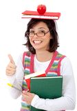 Overwhelmed female student Stock Photo