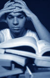 Overwhelmed by Homework Stock Photo