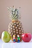 Overwhelmed by Nutrition Choices (Fruit) Royalty Free Stock Photography