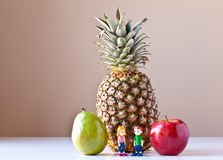 Overwhelmed by Nutrition Choices (Fruit) Royalty Free Stock Images