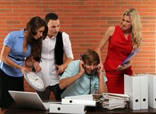 Overwhelmed at the office Stock Images