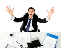 Overwhelmed office worker Royalty Free Stock Photos