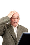 Old man internet problems Stock Photos