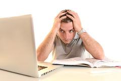Overwhelmed Stressed and desperate Student Royalty Free Stock Images