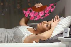 Free Overwhelmed Woman Faning Suffering Heat Stroke Royalty Free Stock Images - 120814069