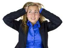 Overwhelmed worker Royalty Free Stock Photos