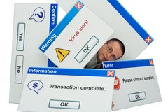 Overwhelming technology Stock Photography