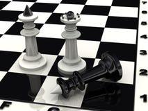 overwinning checkmate Schaak stock illustratie