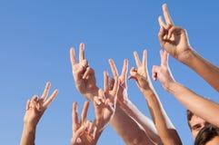 Overwinning en succes Stock Foto