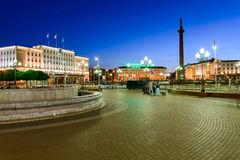 Overwinnings (Pobedy) vierkant in Kaliningrad Royalty-vrije Stock Afbeelding