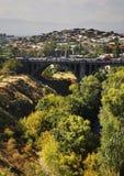 Overwinningsbrug in Yerevan armenië Stock Afbeeldingen