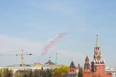 Overwinningsdag in Moskou Royalty-vrije Stock Foto's