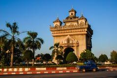 Overwinningsmonument in Vientiane Stock Foto's