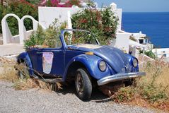 Overwoekerd Volkswagen, Tilos royalty-vrije stock foto's
