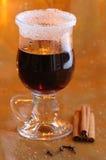 Overwogen wijn Stock Foto's