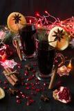 Overwogen wijn met kruiden Royalty-vrije Stock Afbeelding