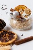 Overwogen wijningrediënten, Kerstmis royalty-vrije stock afbeeldingen