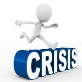 Overwonnen crisis Stock Foto's