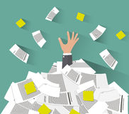 Overwork concept flat style Royalty Free Stock Image